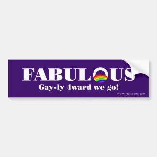 Fabulous: Gay-ly 4-ward Bumper Sticker
