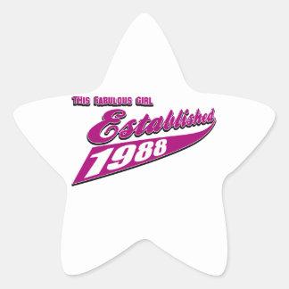Fabulous Girl established 1988 Star Sticker