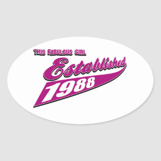 Fabulous Girl established 1988 Stickers
