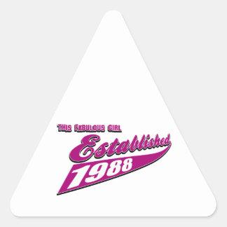 Fabulous Girl established 1988 Triangle Sticker