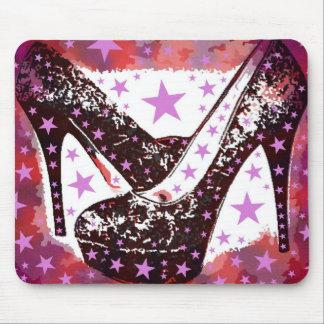 Fabulous Glamourous Pink Purple High Heels Stars Mouse Pad
