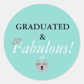 Fabulous Graduation Celebration Party Stickers