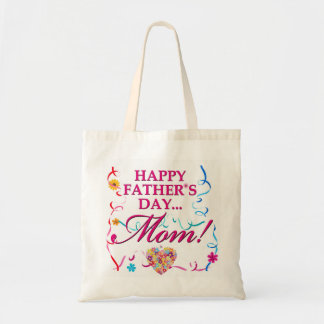 Fabulous Happy Fathers Day Mom Tote Canvas Bag
