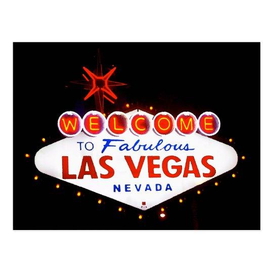 Fabulous Las Vegas - at night Postcard