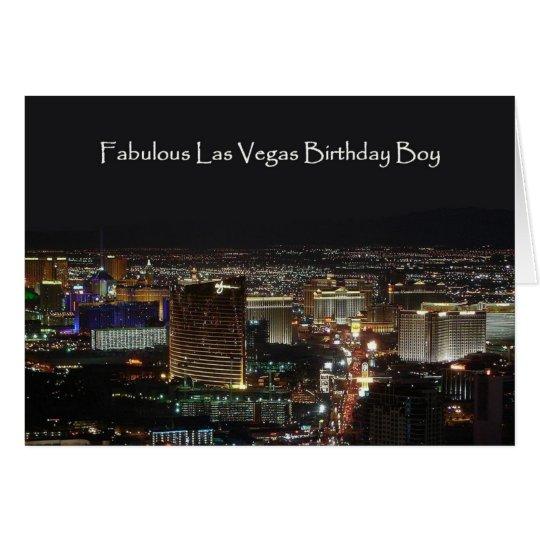 Fabulous Las Vegas Birthday Boy Card
