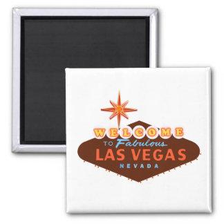 Fabulous Las Vegas Square Magnet