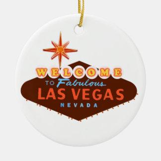 Fabulous Las Vegas Round Ceramic Decoration