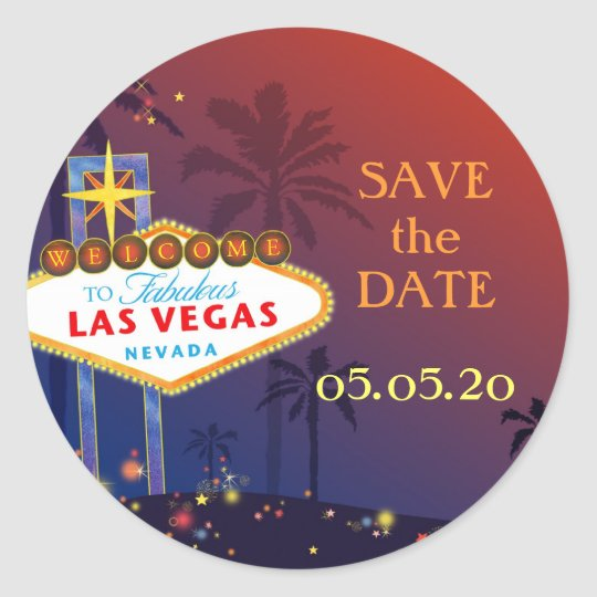 Fabulous Las Vegas Wedding Save the Date Classic