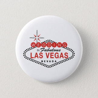 Fabulous Las Vegas Wedding Template Customizable 6 Cm Round Badge