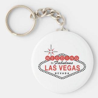 Fabulous Las Vegas Wedding Template Customizable Key Ring