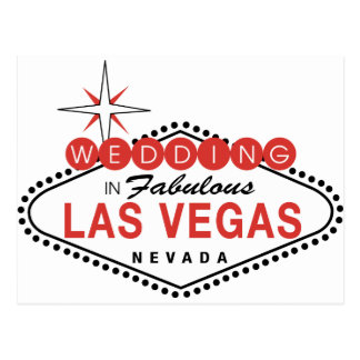 Fabulous Las Vegas Wedding Template Customizable Postcard