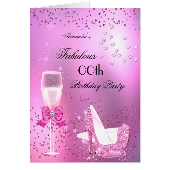 Fabulous Light Pink Heels Birthday 2 Card