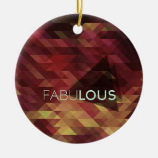 Fabulous luscious background pattern christmas ornament