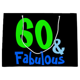 Fabulous Neon Birthday Large Gift Bag