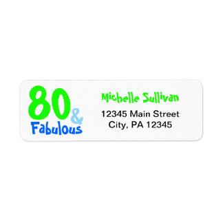 Fabulous Neon Birthday Return Address Label