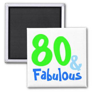 Fabulous Neon Birthday Square Magnet