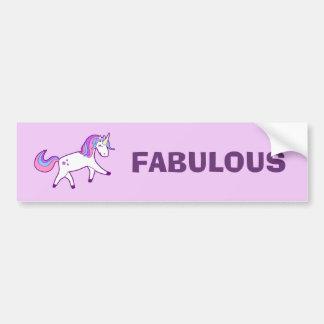 Fabulous Pretty and Magical Unicorn Bumper Sticker