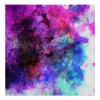 Fabulous Purple Watercolor Abstract Poster