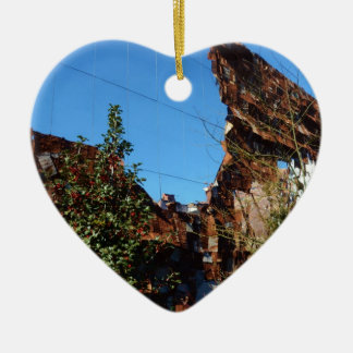 Fabulous Reflections in New York Ceramic Heart Decoration
