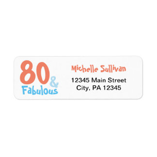 Fabulous Retro Birthday Return Address Label