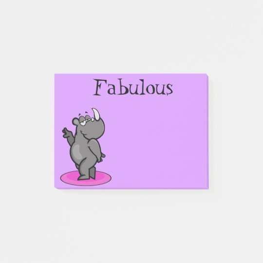Fabulous Rhino Cartoon Post-it Notes