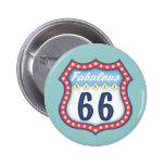 Fabulous Route 66 Button