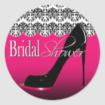 Fabulous Scalloped Damask Stiletto Bridal Shower