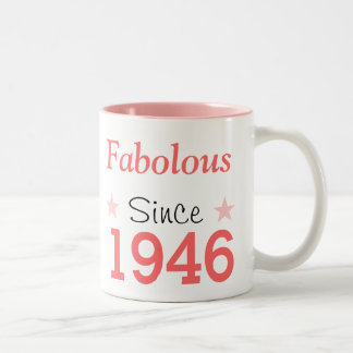 Fabulous Since 1946 Two-Tone Coffee Mug