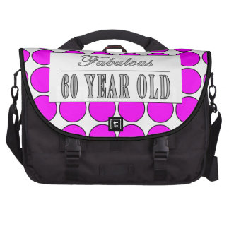 Fabulous Sixty Year Old Pink Polka Dots Laptop Computer Bag