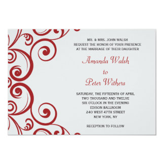 Fabulous Swirls Wedding Invitation