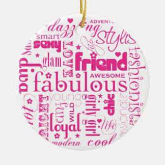 Fabulous Synonym BFF Ornament
