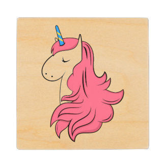 Fabulous Unicorn Wood Coaster