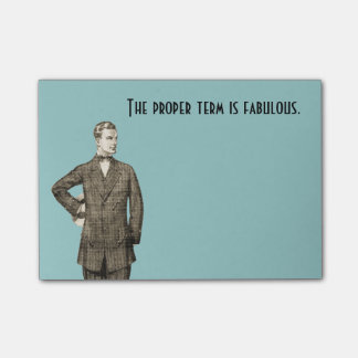Fabulous Vintage Man Post-it Notes