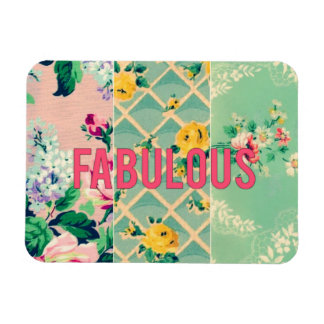 Fabulous vintage wallpaper collage magnet