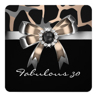 Fabulous Wild Coffee Black Pearl Birthday Party 13 Cm X 13 Cm Square Invitation Card