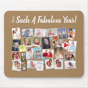 Fabulous Year Make Your Own Photo Cork Board Mouse Mat