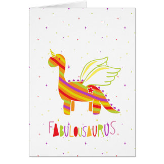 Fabulousaurus Card