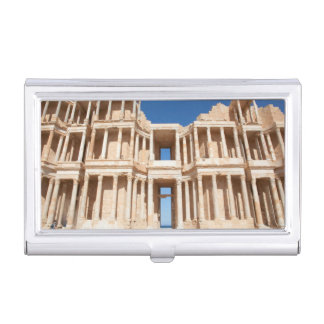 Facade And Stage Of Roman Amphitheater Business Card Holder