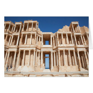 Facade And Stage Of Roman Amphitheater Card