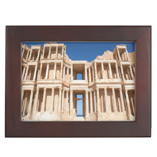 Facade And Stage Of Roman Amphitheater Keepsake Box