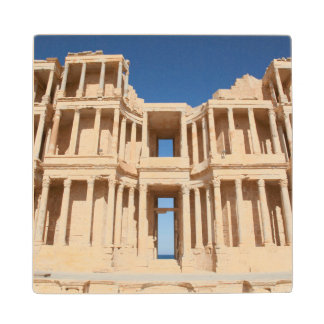 Facade And Stage Of Roman Amphitheater Wood Coaster