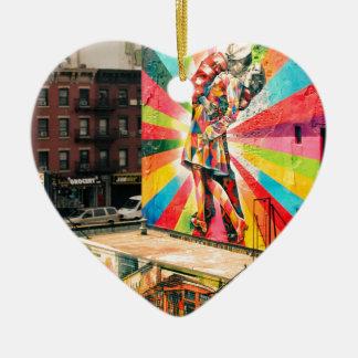 Facade Graffiti Ceramic Heart Decoration