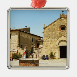 Facade of a church, Romanesque Church, Piazza Christmas Ornament
