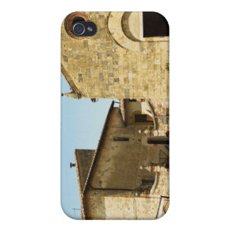 Facade of a church, Romanesque Church, Piazza iPhone 4 Case