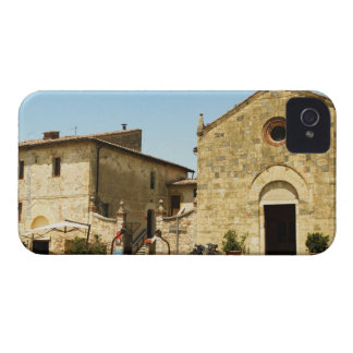 Facade of a church, Romanesque Church, Piazza iPhone 4 Case-Mate Case