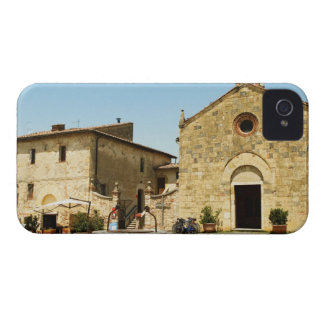 Facade of a church, Romanesque Church, Piazza iPhone 4 Covers