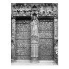 Facade of Notre-Dame, left portal, Paris Postcard