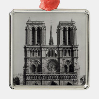 Facade of Notre-Dame, Paris, late 19th century Christmas Ornament