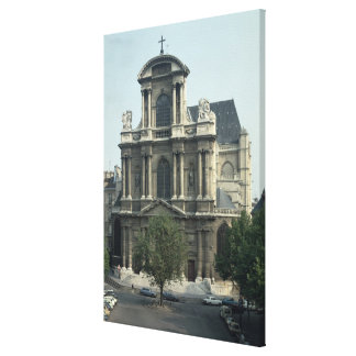 Facade of the Church of Saint-Gervais Canvas Print
