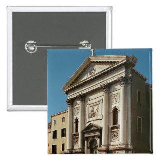 Facade of the Church of Santa Maria della 15 Cm Square Badge